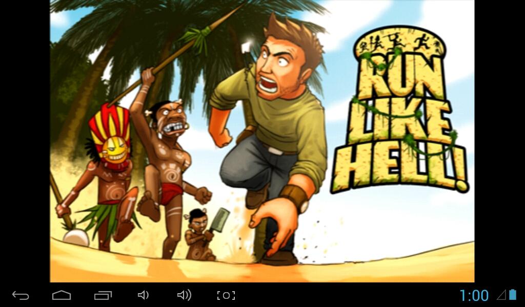 Opening Screen of Run Like Hell!