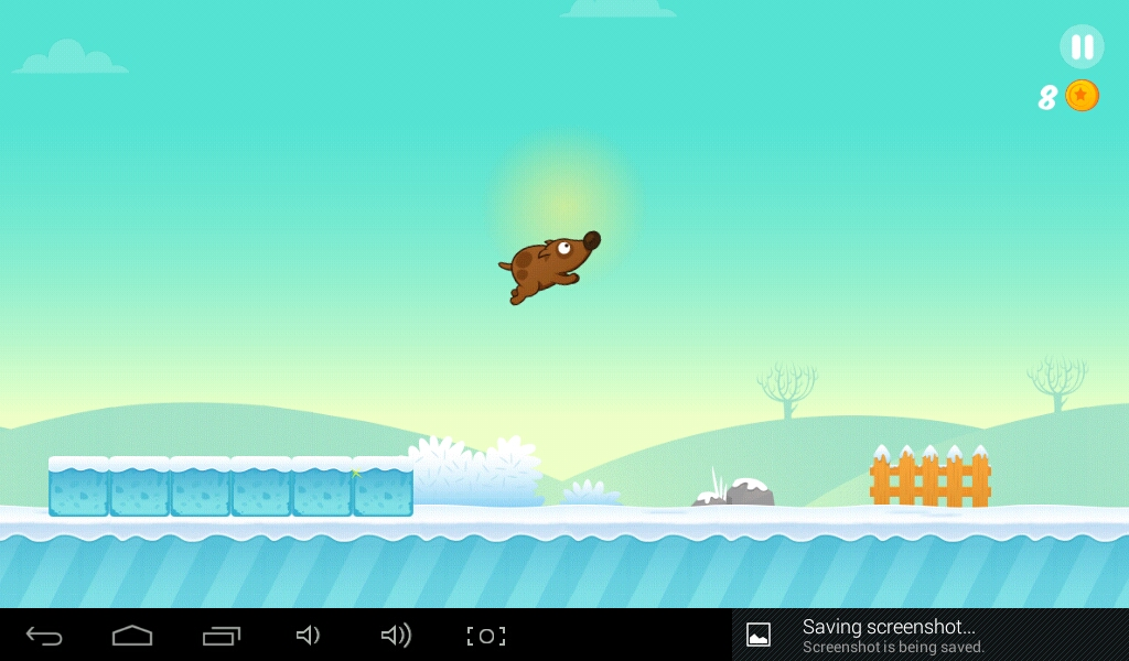 Space Dog jumps higher by making a double jump! Where is he going?