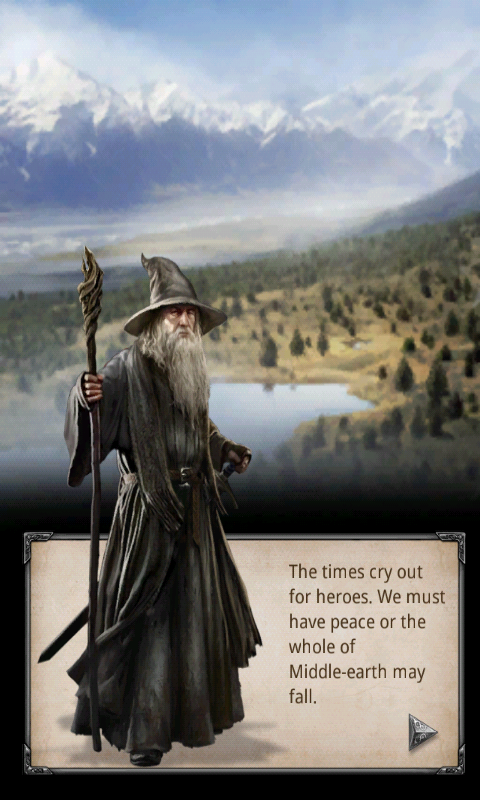 The wise Gandalf ready to aid you in your kingdom.